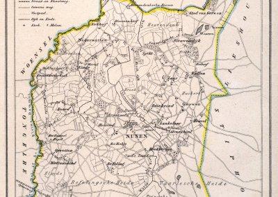 Kaart gemeente Nuenen c.a. 1865