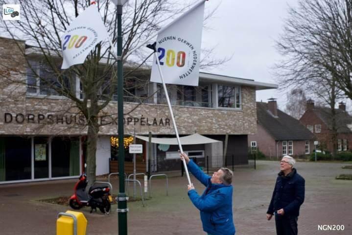 De vlaggen kunnen uit!